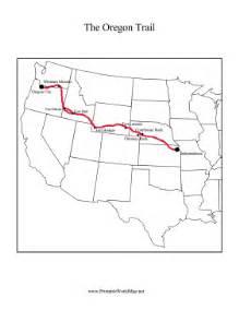 blank oregon map oregon trail map