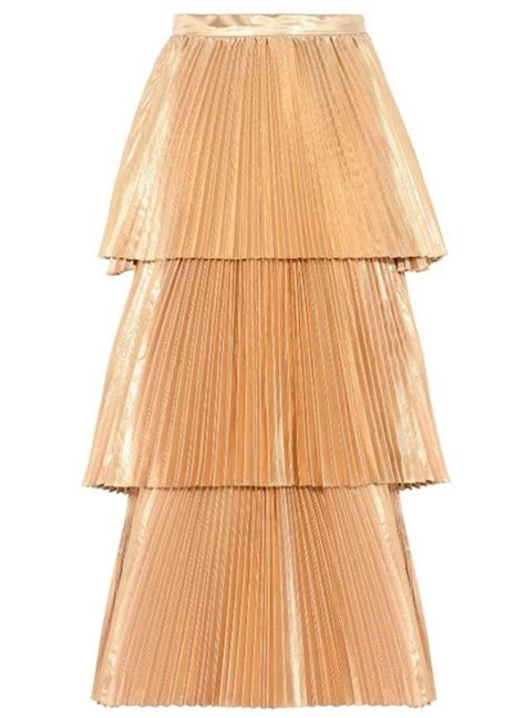 gold pleated skirts 2017 cocktail casual