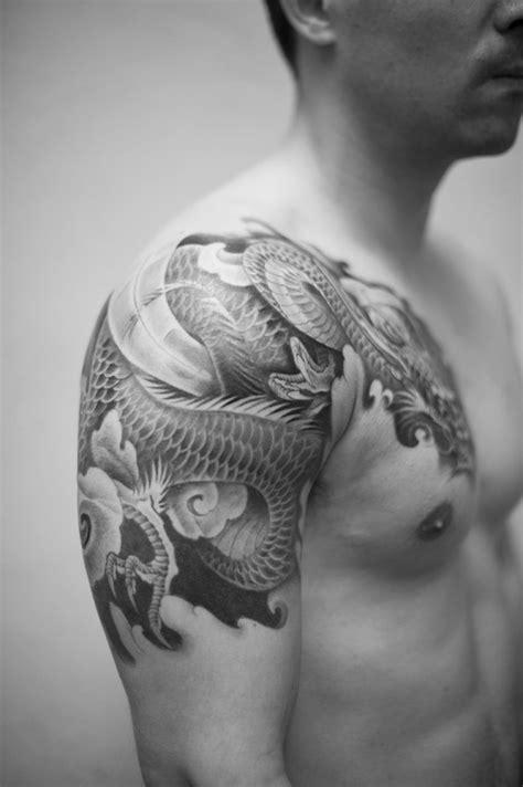 dragon tattoo in chest dragon tattoo chest shoulder 1 tattoos pinterest