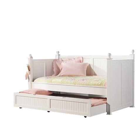 White Trundle Daybed Coaster Wood Daybed With Trundle In White Finish 300026