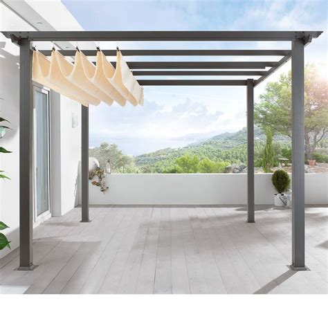 retractable shade pergola 17 best ideas about retractable awning on
