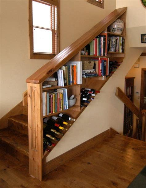 staircase shelves custom made wine shelf bookcase railing for staircase