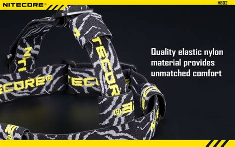 Nitecore Headband Hb02 nitecore hb02 headband belt elastic anti slip for flashlight torch