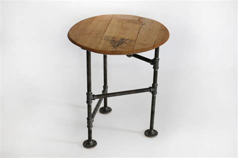 industrial end table end table pipe industrial side table reclaimed upcycled