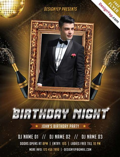 birthday flyer templates free free birthday psd flyer template