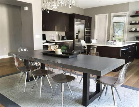 concrete kitchen table best 25 concrete dining table ideas on
