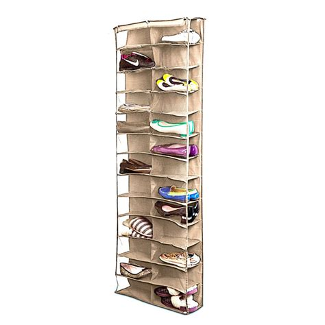 closet door organizers shoe rack storage organizer holder folding hanging door closet 26 pocket il ebay