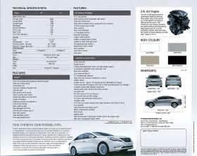 hyundai sonata fluidic sedan brochure hits the interweb