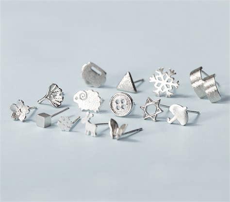 sterling silver anti allergy earring on luulla