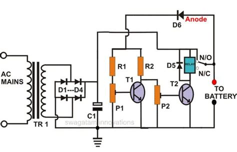 Schematic Of A Battery 12 volt battery charger diagram on voltage 12 free engine image for user manual