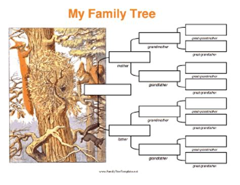 4 generation family tree template free 4 generation family tree with squirrels template