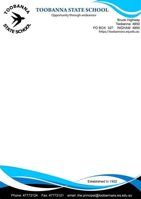 download design header footer modern feminine letterhead design for toobanna state