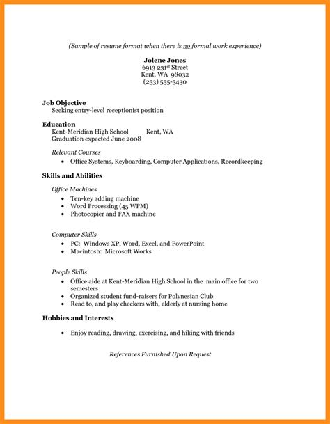 Resume Template With No Experience by 6 Resume Exles No Experience Mystock Clerk