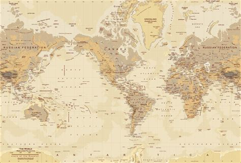 wall mural maps world map map wall mural