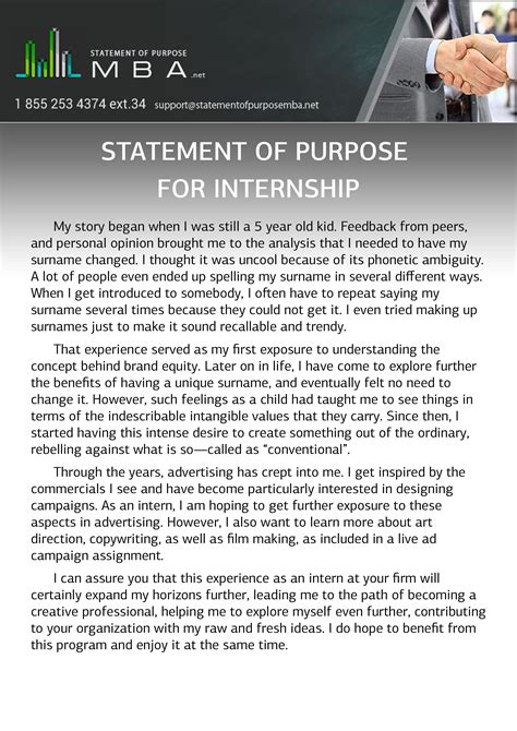 Apply Mba America Internship by Statement Of Purpose For Internship Statement Of Purpose Mba