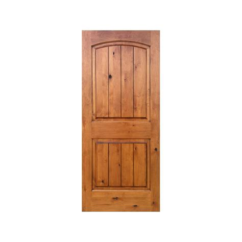 Krosswood Doors 32 In X 96 In Knotty Alder 2 Panel Top 2 Panel Wood Interior Doors