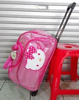 Tas Trolley Tk Hello Bahan Anti Air cosmobunda hk hello trolley pink waterproof