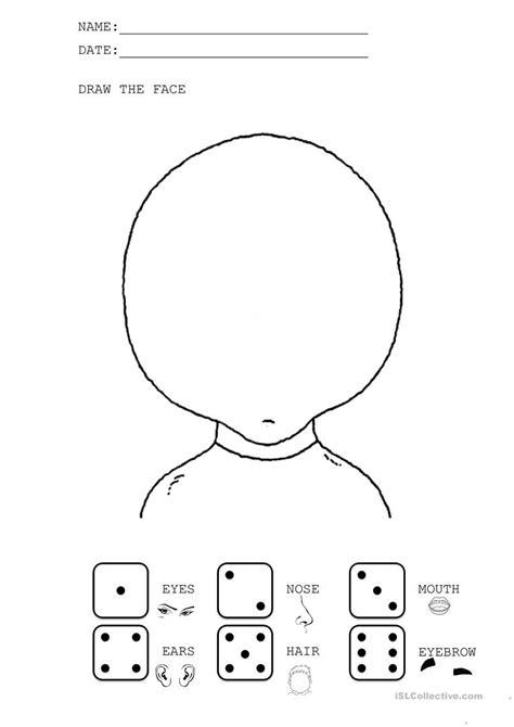 kindergarten activities my face draw the face worksheet free esl printable worksheets