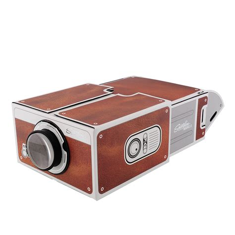 cardboard smartphone projector 2 0 diy for mobile phone portable mini ebay
