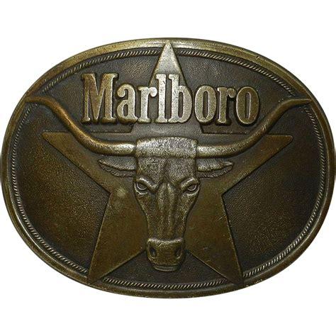 solid brass ls antique vintage solid brass marlboro belt buckle 1987 from