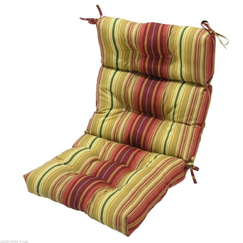 High Back Patio Chair Cushion Replacement Patio Chair Overstuffed Cushion High Back Indoor Outdoor Furniture Cushions Pads