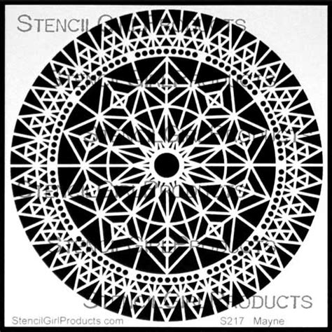 London Home Decor Stores rose window stencil lizzie mayne stencilgirl products