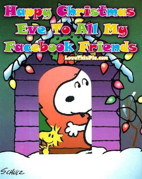 happy christmas eve    facebook friends snoopy quote pictures   images