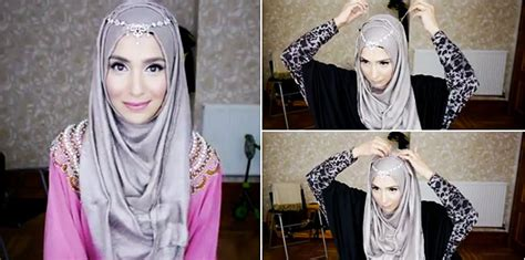 tutorial hijab pesta glamour tutorial hijab pesta glamour modern terbaru