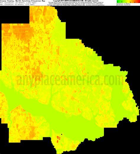 carolina elevation map free greene county carolina topo maps elevations