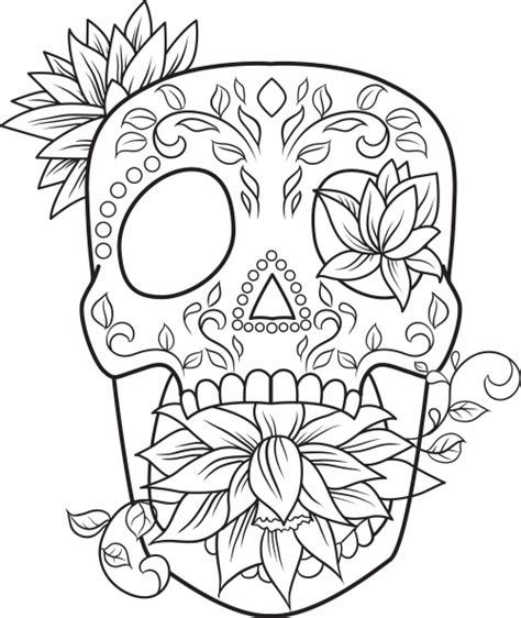 Skull Coloring Pages F Coloring Pages Girly Sugar Skull Coloring Pages