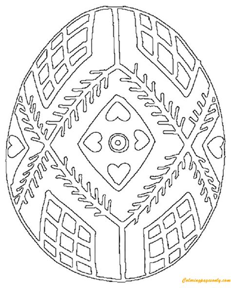 pysanky egg coloring page ukrainian easter eggs coloring page free coloring pages
