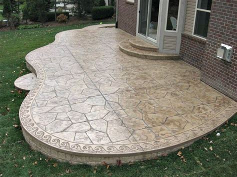 Do These Concrete Patio Designs Make You Say Wow Sted Concrete Backyard Ideas