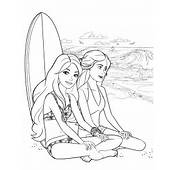 85  Barbie Coloring Pages For Girls Princess Friends And