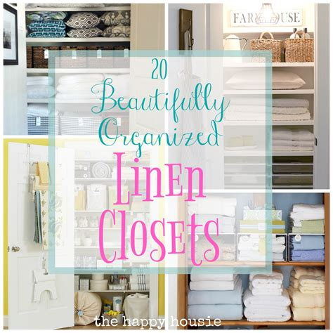 linen closet organization ideas 20 beautifully organized linen closets the happy housie