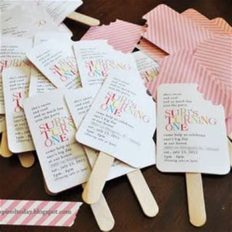Handmade Birthday Invites - popsicle shaped birthday invitations tip junkie