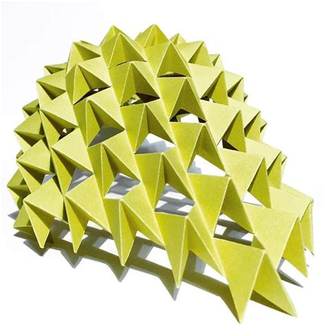 Chemistry Origami - shell structure origami kirigami waterbomb