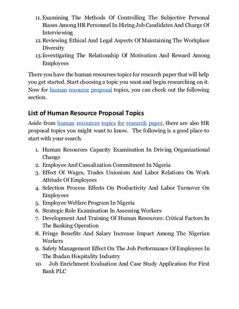 research paper resources discover human resources management topics for research