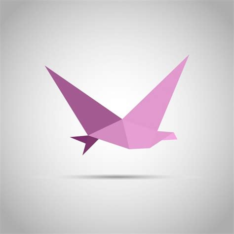Origami Paper Birds - origami paper bird vector free