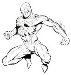 spider 2099 coloring pages 2099 drawing ref pics