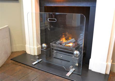 flat glass fire screen the fireplace company