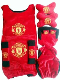 Sarung Jok Bola Mu 18 In 1 Mobil March Mirage Jazz Yaris jual bantal mobil set manchester united 5 in 1 ts501