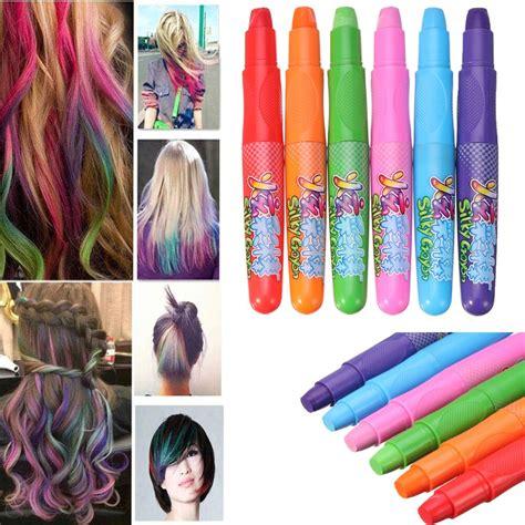 non toxic hair color 6 colors fashion hair coloring crayons disposable non
