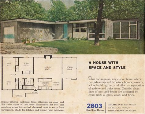 1960s interior house colors 1960 modern house plan