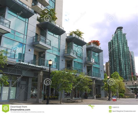 Small Apartment Building Plans modern high rises at vancouver downtown stock photos