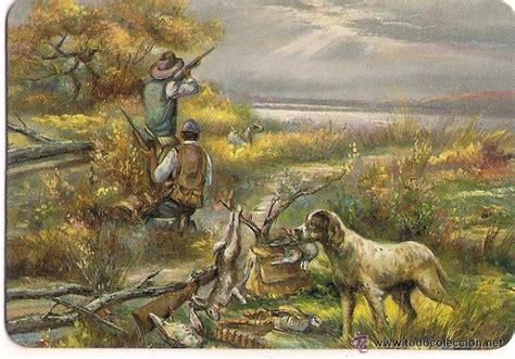cuadros de caza 61470 calendario pintura escena de caza con pe comprar