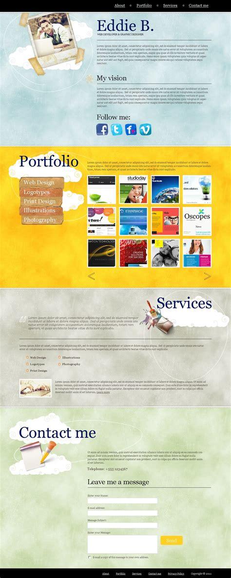 designer portfolio joomla template 33239