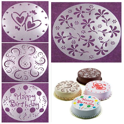 stencil da stare per cucina eco friendly high quality 4 styles flower spray