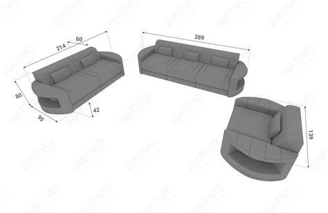 divano 2 posti tessuto divano in tessuto a 2 posti atlantis con led nativo