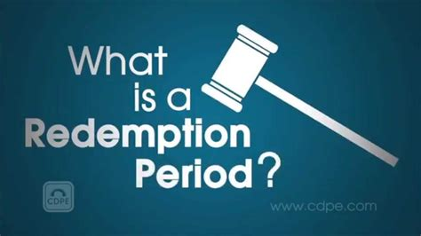 What Is A Redemption Period In A Foreclosure Ehow   redemption period explained youtube