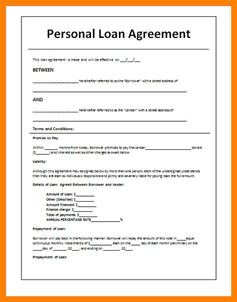 Letter Of Agreement For Personal Loan 9 Loan Agreement Letter Addressing Letter